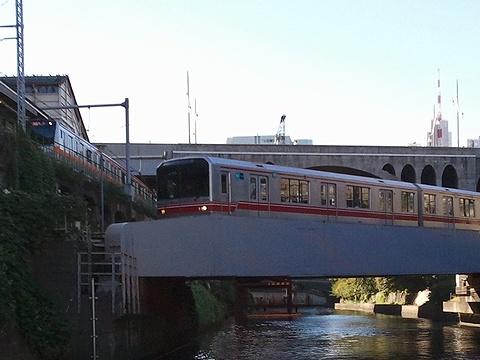 神田川と丸ノ内線