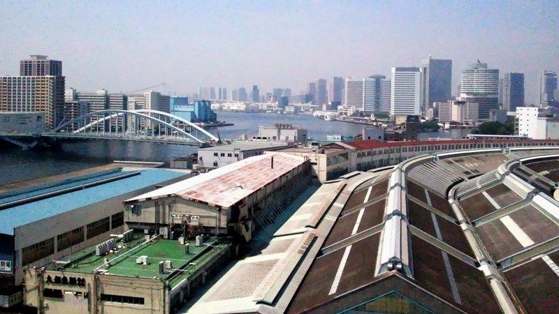 築地市場から隅田川下流